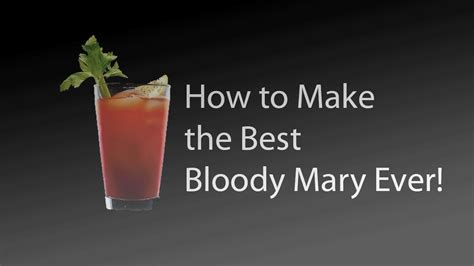 how to make a bloody mary v8 juice recipe cocktail youtube