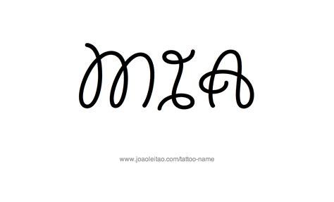 mia name tattoo designs