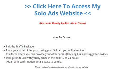 Make Money Online Solo Ads - premium solo ads traffic for your make money online offers over 301 testimonials