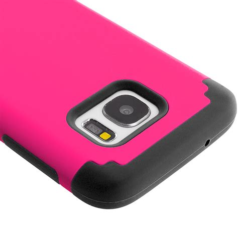Samsung Galaxy S7 Soft Cover Casing Slim Line Murah pink black hybrid slim soft shockproof armor cover for samsung galaxy s7