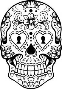 skull coloring pages for adults sugar skull coloring page az coloring pages
