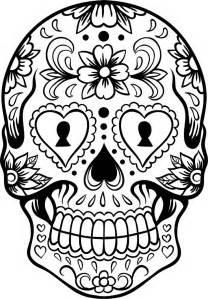Skulls coloring pages sugar skull coloring page az coloring pages