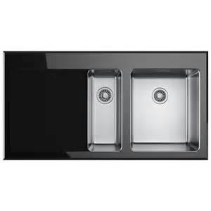 Glass Kitchen Sink Franke Kubus Kbv 651 Black Glass 1 5 Bowl Inset Kitchen Sink 1010052397
