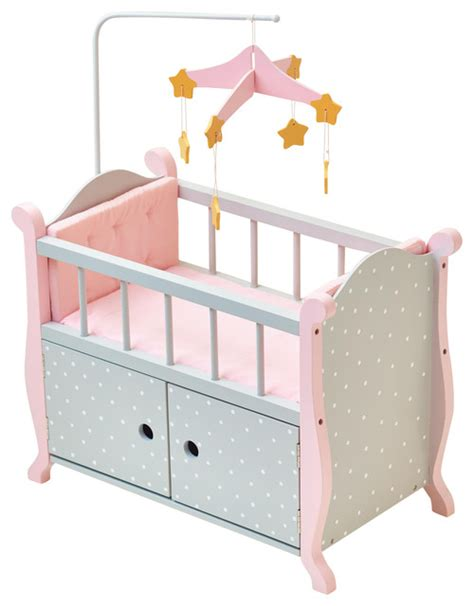 Little Princess Doll Furniture Nursery Crib With Storage Baby Doll Cribs And Beds