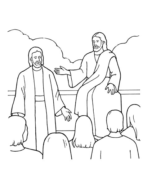 lds coloring pages heavenly father premortal life