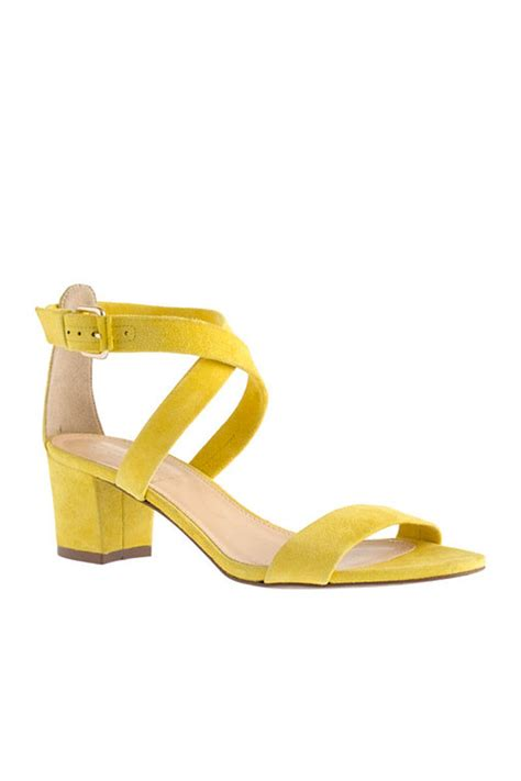 yellow heeled sandals yellow mid heel sandals boots and heels 2017