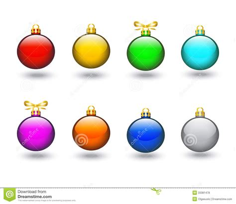 colored christmas balls royalty free stock photos image