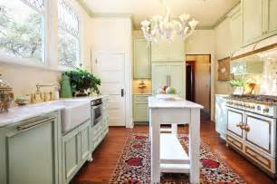 narrow kitchen island for galley design with chandelier houzz