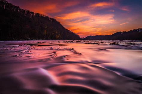 sunset on the shenandoah river long by jonbilousphotography