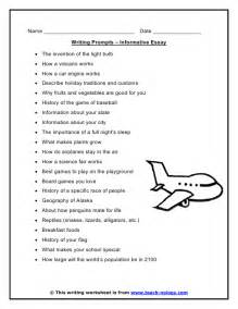 Informational Essay Prompts informative essay writing prompts
