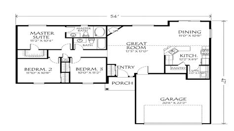 Single Story Floor Plans With Open Floor Plan by Best One Story Floor Plans Single Story Open Floor Plans