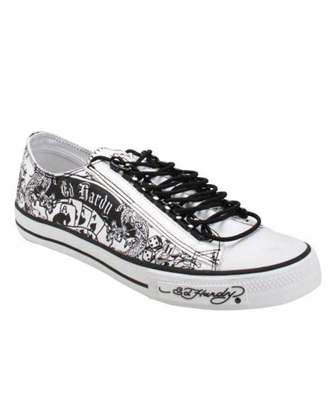 tattoo printer price in india ed hardy white tattoo print canvas shoes price in india