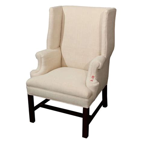 small wingback chair small wingback in linen for sale at 1stdibs