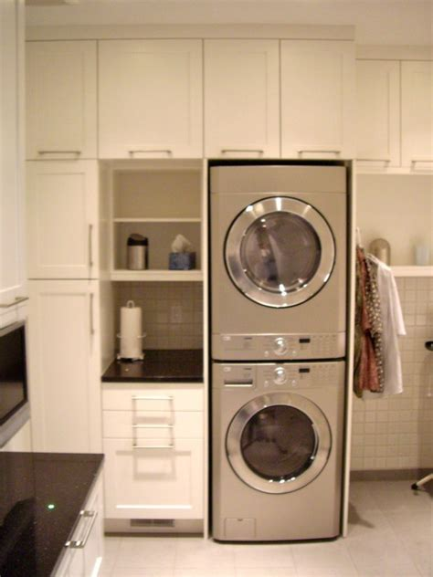 stacking washing machine dryer laundryscullery stackable washer dryer laundry room modern laundry rooms
