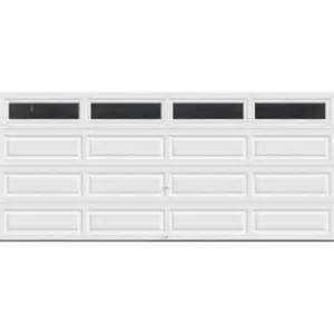 Value intellicore insulated white garage door with windows exceptional