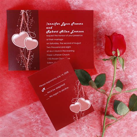 wedding invitations with hearts top 20 s day inspired unique wedding ideas and