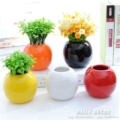 Small Flower Vases Cheap Aliexpress Com Buy 5pcs Modern Simple Small Ball Vases