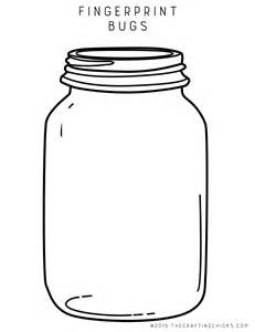 Jar Printable Template by Fingerprint Bugs