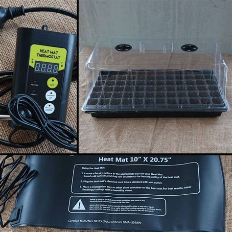heated propagation kit  seed collection