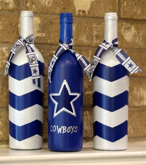 Dallas Cowboy Decorations by Dallas Cowboys Wine Bottles Football Decor By