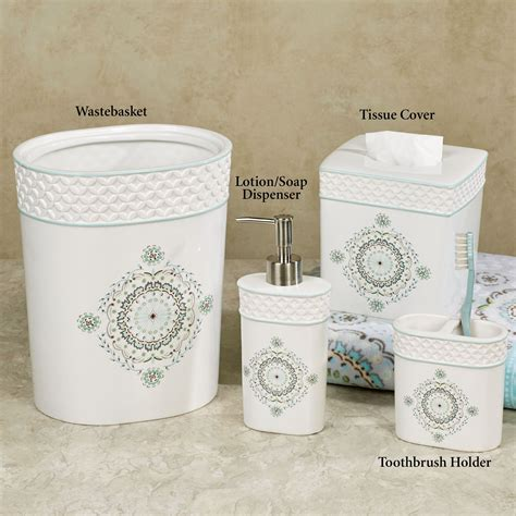 camden white ceramic bath accessories by dena home