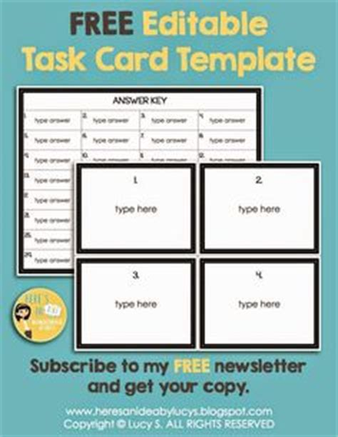 Template For Task Cards Doc 1000 images about diy task cards on task