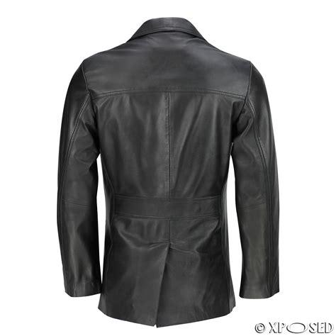 Jaket Coat Blazer Model Black Style Impor 3 Mens Black Brown Real Leather 3 4 Mid Length Retro Vintage