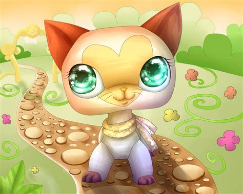 lps painting lps cat in a garden by helen brush on deviantart