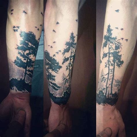 tree tattoo for men 60 forearm tree designs for forest ink ideas