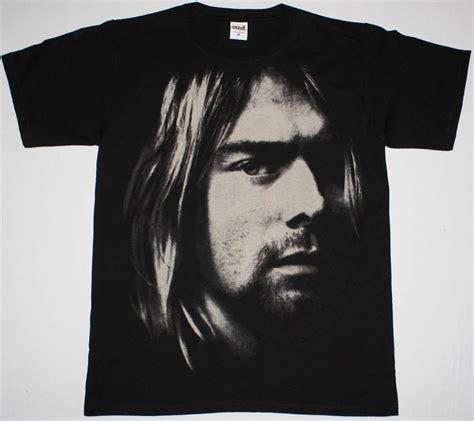 T Shirt Kurt Cobain Black kurt cobain photo nirvana grunge seattle band new jumbo print black t shirt ebay