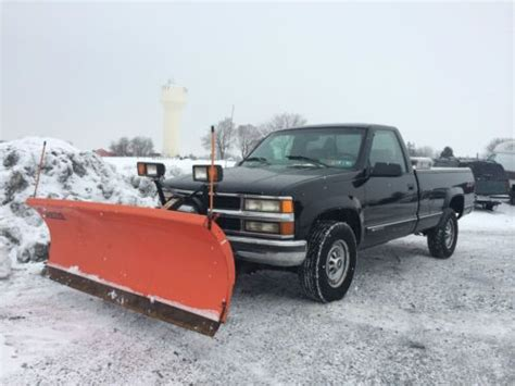 snow for sale buy used curtis snow plow with free 1998 chevrolet k2500