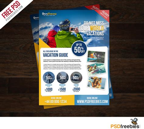 Travel Tour And Vacation Flyer Free Psd Download Download Psd Travel Flyer Template Free