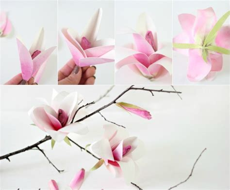 magnolia paper flower tutorial watercolor paper magnolia flower tutorial