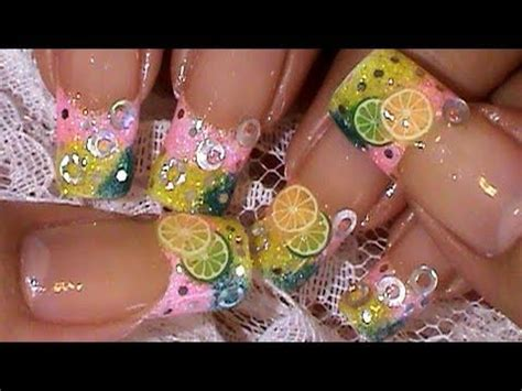 lemon nail art tutorial lemon lime fimo fruit slices nail art design tutorial