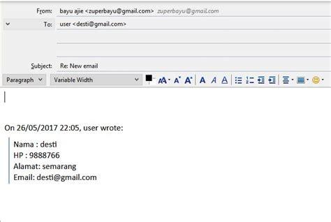 membuat link ke email membuat form php ke email corat coret
