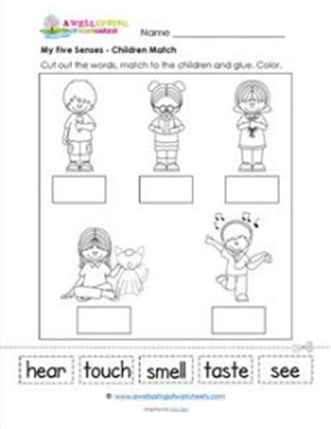 free download mp3 you feel up my senses my five senses a matching page kindergarten science