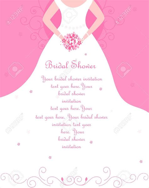 bridal shower invitations blank templates www imgkid com