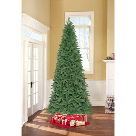 walnart 4 ft pre lit rose tinsel christmas tree time unlit 9 fremont fir slim artificial tree walmart