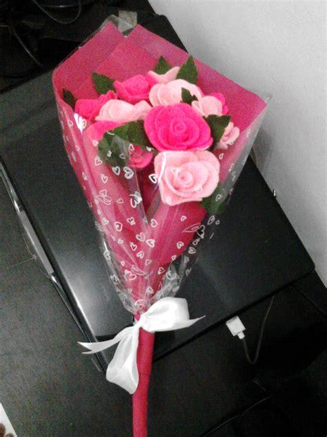 tutorial bunga flanel untuk wisuda jual bunga wisuda bunga mawar flanel arandha bunga