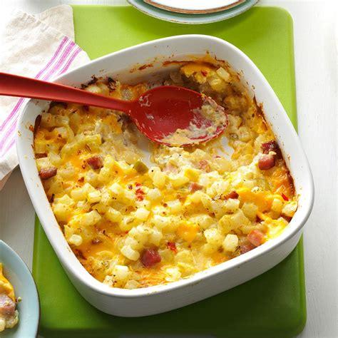 ham cheese potato casserole recipe taste of home