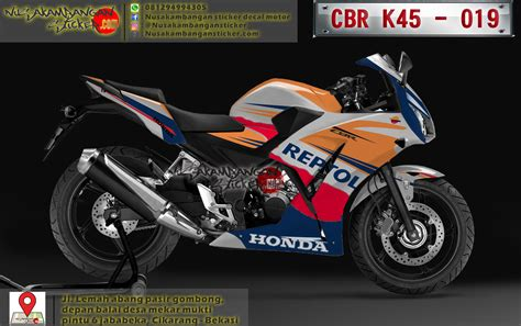 Sticker Honda Cbr 150 K45 Carbon 1 decal striping honda cbr k45 lokal repsol 019
