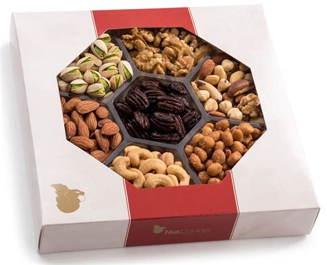 christmas holiday gourmet food baskets nuts gift basket mixed nuts 7 different nuts five star gift baskets oh nuts healthy tropical dried fruit gift tray 6 section 2 lb grocery gourmet food