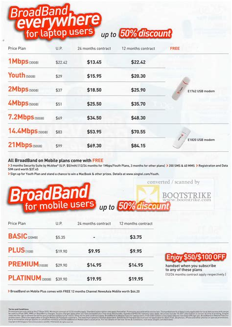 singtel singnet broadband mobile broadband plans it show