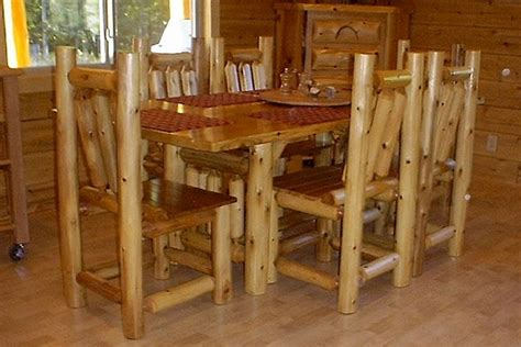 rectangular cedar log dining table log dining room furniture