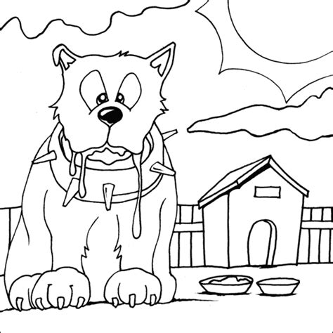 guard dog coloring page guard dog coloring