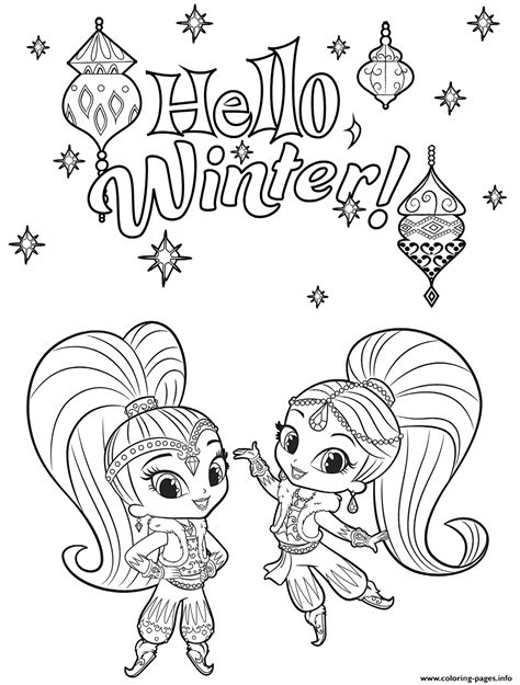 printable coloring pages shimmer and shine shine and shimmer winter coloring coloring pages printable