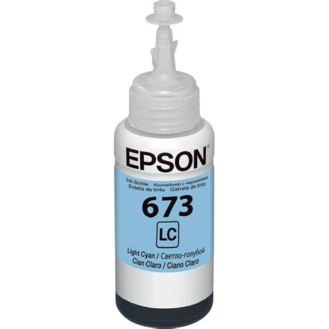 Tinta Ori Epson L1800 tinta original epson 70ml ciano claro t673520 p l800 l805 l810 l1800 intersupri toner