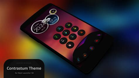 themes for android without launcher next launcher theme contrastum android apps auf google play