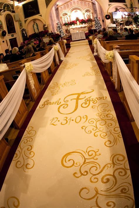 new year church decoration custom aisle runner designs for your wedding ceremony