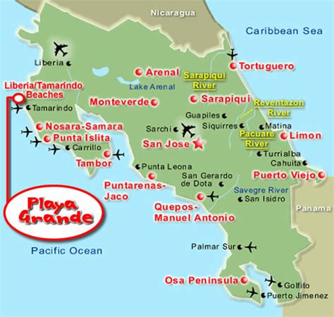 lade da terra prezzi costa rica mappe e carte stradali sol y lodge playa